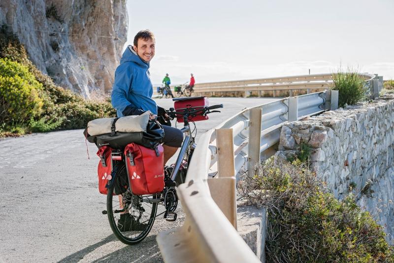 Maximilian Semsch unterwegs mit VAUDE Radtaschen