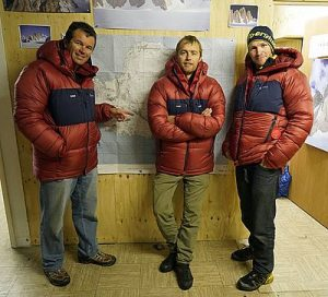 8 The team - l-r Marc Sedon Leo Houlding Jean Burgun - photo credit Berghaus (002)