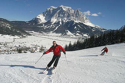 Skifahren beim Hotel Alpenrose
