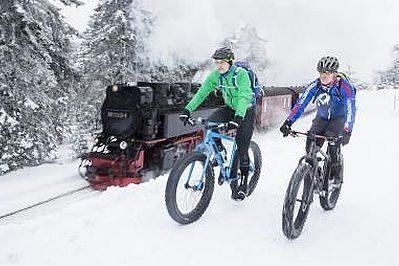 Winter-Fahradtour im Harz
