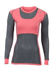 Aclima_WoolNet_Crew Neck_Woman_tornado_calypso coral_preview