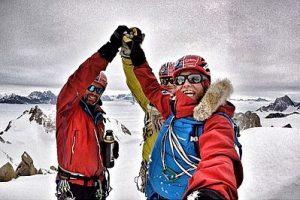 Spectre summit selfie - l-r - Mark Sedon Jean Burgun Leo Houlding - photo credit Berghaus (002)