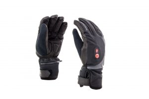 Cold Weather Heated Cycle glove_Black_Red_1 (002)