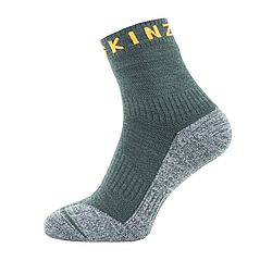 Soft Touch Ankle Length sock_Racing green_Grey_Orange_1 (002)