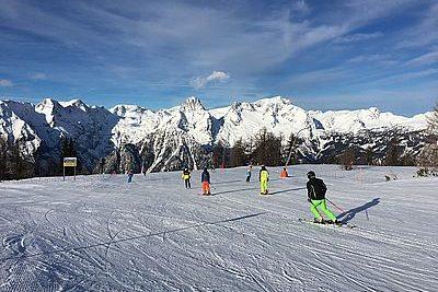 traumbedingungen für Skiläufer