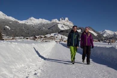 Wandern im winterlichen Tannheimer Tal