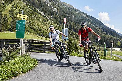Ischgl-Bikefahrer
